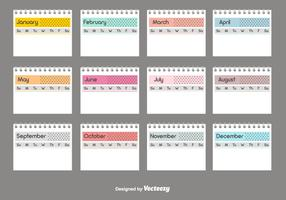 Desktop Calendar Vector Template