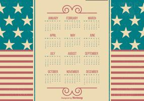 Patriotic Style 2017 Grunge Calendar