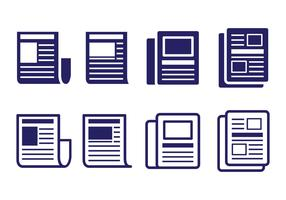 Press Release Icon Set