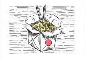 Free Hand Drawn Vector Chinese Food Illustration