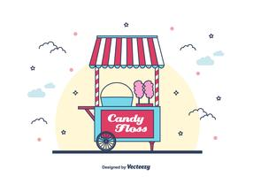 Candy Floss Machine Vector Background