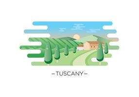 Free Tuscany Landscape Illustration