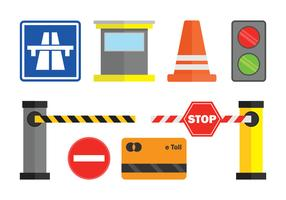 Toll Vector Icons Set