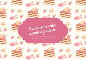 Vector Watercolor cake Seamless Pattern