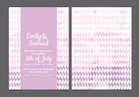 Vector Pink Watercolor Wedding Invite