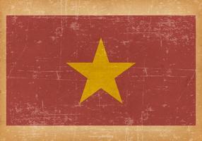 Grunge Flag of Vietnam