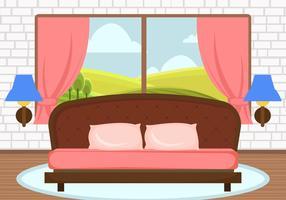 Decorative Pink Bedroom Vector