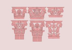 Corinthian Pink Color Vectors