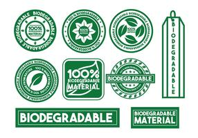 Biodegradable vector stamp set