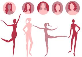 Free Woman Silhouettes 2 Vectors