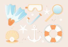 Free Summer Beach Elements Background