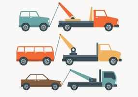 Towing Truck Simple Illustration