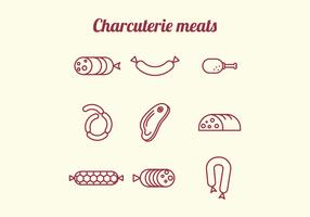 Charcuterie Meats Icons