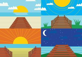Broadwalk post card vector