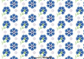 Bluebonnet Flowers Pattern Vector
