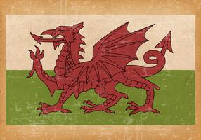Old Grunge Flag of Wales