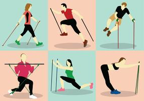 Nordic Walking Vector Pack