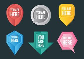 Free You Are Here Icons Vector