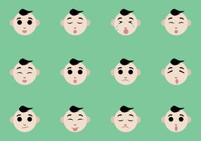 Baby Facial Expression Vectors