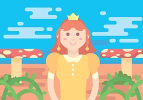 Princesa Daisy Vector