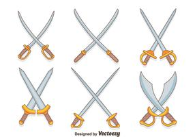 Hand Drawn Cross Sword Vectors