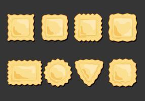 Ravioli Pasta Icons Set