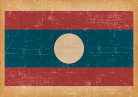 Old Grunge Flag of Laos