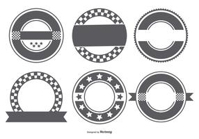 Blank Retro Badge Shapes Collection