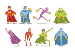 Super Heroes Cartoon Vector