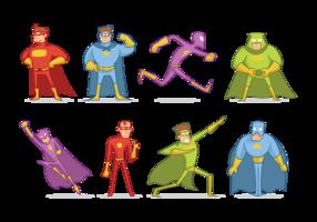 Super Heroes Cartoon Vector