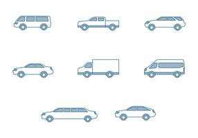 Modern Cars Icons