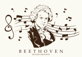 Free Hand Drawn Beethoven Vectors