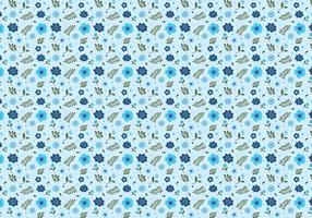 Ditsy Aqua Background Free Vector