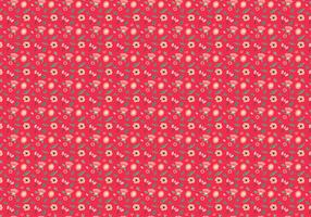 Ditsy Red Background Free Vector