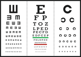 Eye Test Letter Poster Vectors