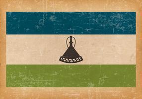 Grunge Flag of Lesotho