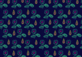Bright Ditsy Floral Pattern Vector