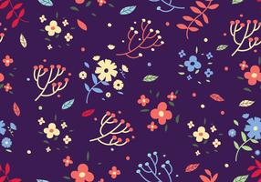 Free Floral Ditsy Print Vector Background
