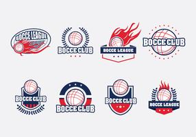 Bocce Badge Set