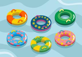Swimming Inner Tube Vector Pack