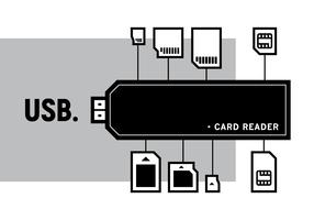 Card Reader Vector Illustration