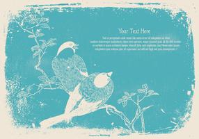 Vintage Bird Text Template