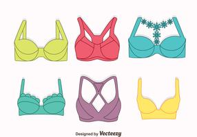 Nice Colorful Bra And Bustier Vectors