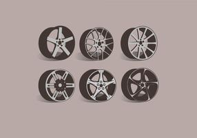 Alloy Wheels Side View Vector