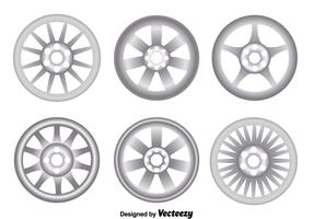 Alloy Wheels On White Vector