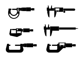 Micrometer Icon Vector