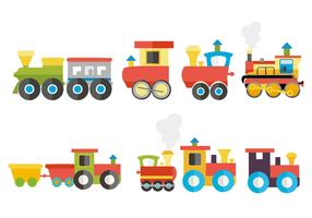 Free Colorful Child Train Vector