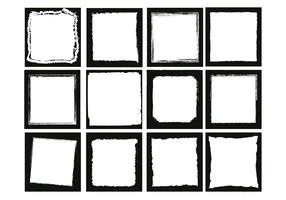 Photo edges square vector set