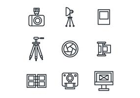 Outlined Photography Icons