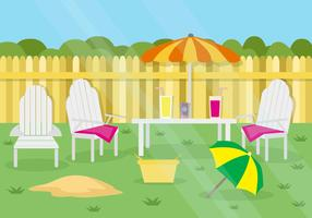 Free Summer Garden Party Background vector